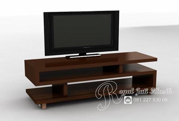 Bufet TV Jati Minimalis Modern Solid