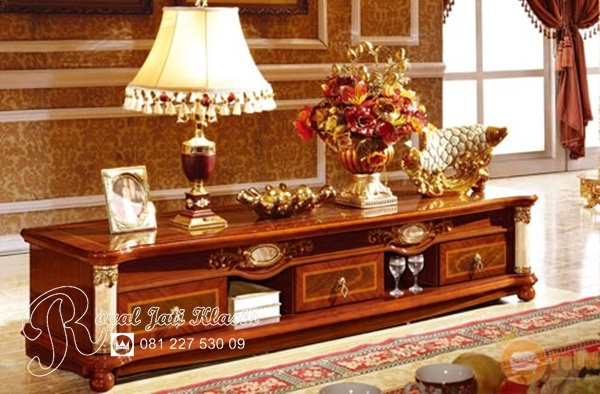 Bufet TV Ukir Cleopatra Royal Jati Klasik