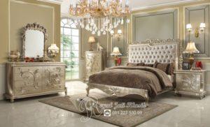 Kamar Set Mewah Royal Eropa Putih Gading