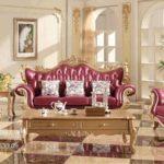 Kursi Sofa Tamu Antik Eropa Ukiran Emas