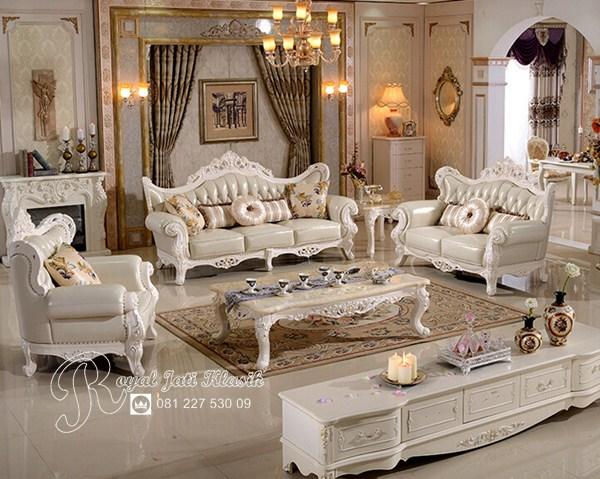 Kursi Sofa Tamu Antik Klasik Royal Mewah Duco