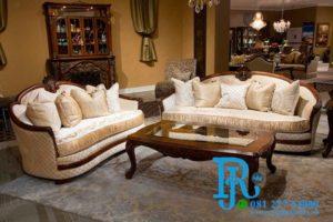 Kursi Sofa Tamu Klasik Jati Modern Royal Bella