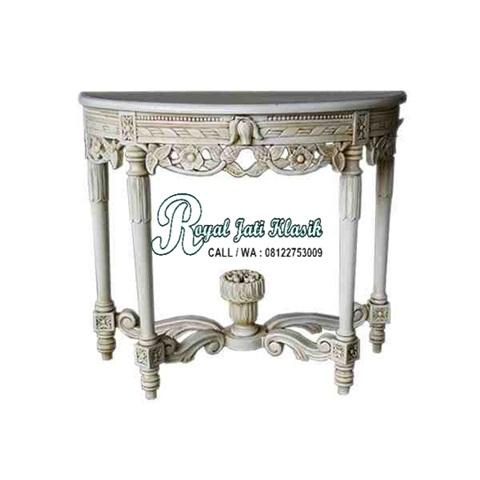 Meja Konsol Antikan Duco Emas Royal Klasik