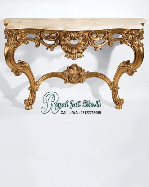 Meja Konsol Klasik Rococo Royal Italia