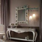 Set Meja Console Minimalis Mirror Rococo