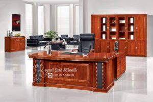 Set Meja Kantor Direktur Royal Jati Klasik