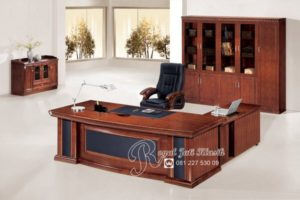 Set Meja Kantor Direktur Royal Jati Mewah