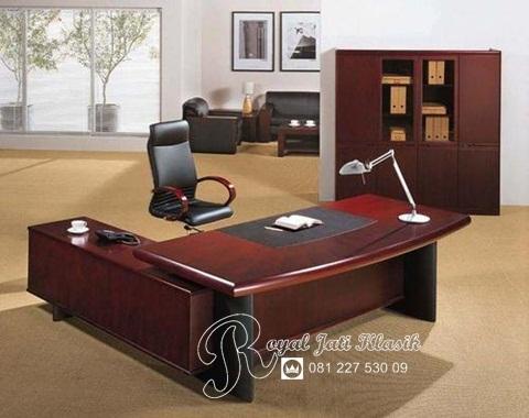 Set Meja Kantor Executive Direktur Jati Minimalis