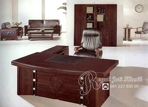 Set Meja Kantor Jati Minimalis Modern