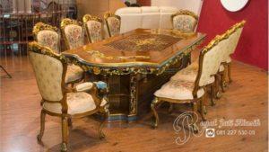 Set Meja Makan King Royal Klasik