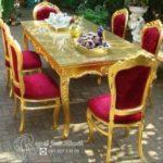 Set Meja Makan Klasik Florence Gold