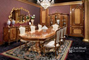 Set Meja Makan Klasik Ukir Royal Revo