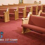 Bangku Gereja Jati Minimalis Jepara