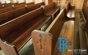 Bangku Gereja Jati Minimalis Mebel Jepara