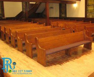 Bangku Gereja Kayu Jati Royal Minimalis