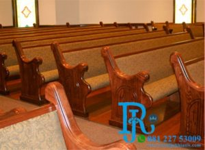Bangku Gereja Kristen Jati Minimalis Terbaru