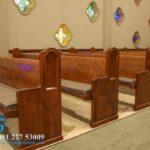 Bangku Gereja Minimalis Royal Jati Klasik