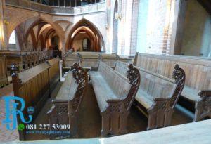 Bangku Gereja Ukir Jati Mewah Jepara