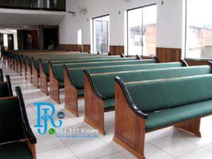 Kursi Gereja Kristen Kayu Jati Modern