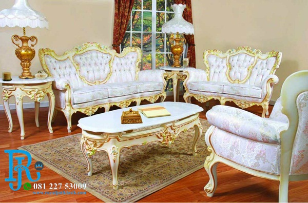 Kursi Sofa Tamu Royal Baroque Jati Modern