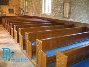 Set Bangku Gereja Minimalis Jati Mewah