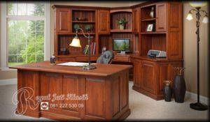 Set Meja Kerja Rumah Jati Royal Klasik