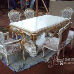 Set Meja Makan Rococo Ukir Royal Klasik