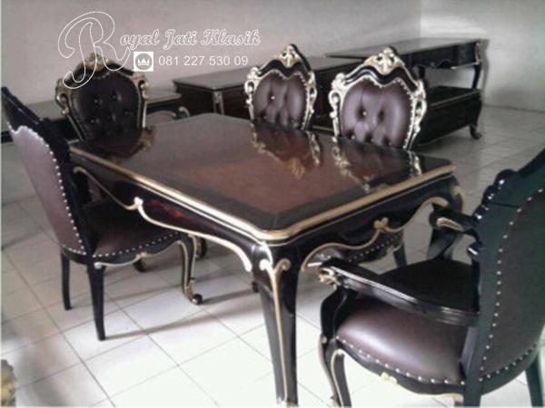 Set Meja Makan Royal Klasik Black Mayra