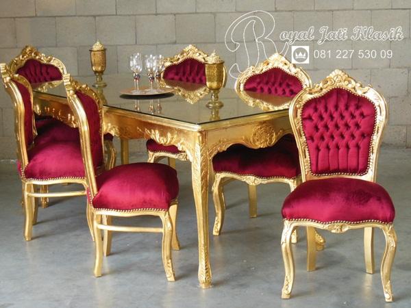 Set Meja Makan Royal Ukir Valentino