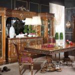 Set Meja Makan Salina Ukir Royal Klasik