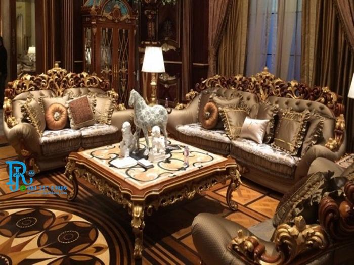 Kursi Sofa Tamu Royal Purple Ukir Klasik