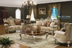 Kursi Sofa Tamu Ukir Silver Victorian Mewah