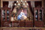 Set Bufet TV Jati Ukir Eropa Rapael
