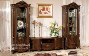 Set Bufet Tv Jati Ukir Klasik Baroco