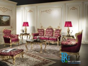 Set Sofa Ruang Tamu Keluarga Baroque Mewah