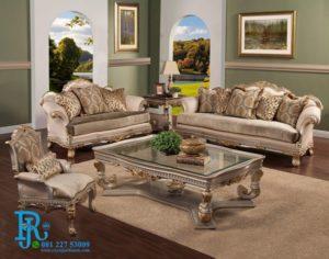 Set Sofa Ruang Tamu Keluarga Klasik Italian Baroque