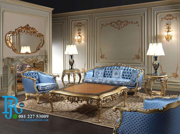 Set Sofa Tamu Century Italia Royal Classic