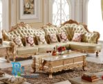 Set Sofa Tamu Gold Ukir Mewah Purple