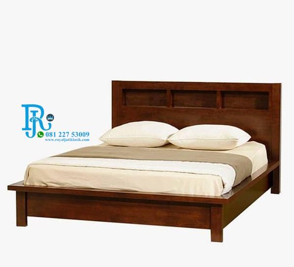 Ranjang Tidur Minimalis Jati Simple