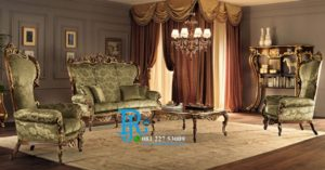 Set Sofa Tamu Jati Luxury Italia Modern