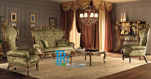 Set Sofa Tamu Jati Luxury Italia Modern