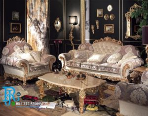 Set Sofa Tamu Jati Luxury Italian Mewah