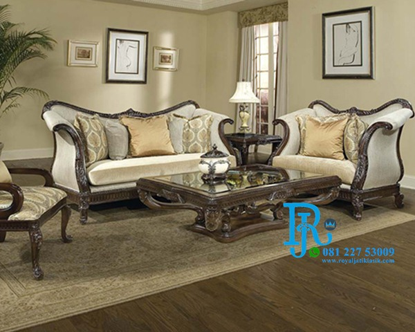 Set Sofa Tamu Jati Royal Ukir Republic