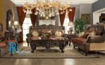 Set Sofa Tamu Jati Ukir French Classic