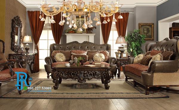 Set Sofa Tamu Jati Ukir French Classic