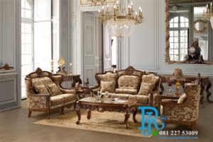 Set Sofa Tamu Jati Ukir Italy