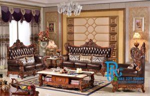 Set Sofa Tamu Jati Ukir King Amerika