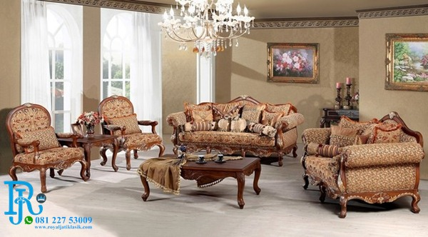 Set Sofa Tamu Jati Ukir Luxury Madeleine