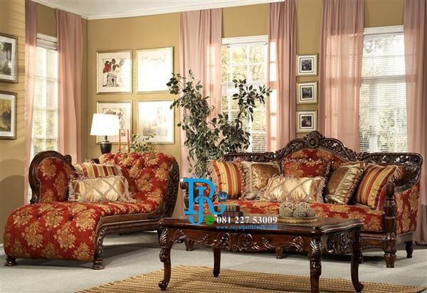 Set Sofa Tamu Jati Ukir Mewah Eropa