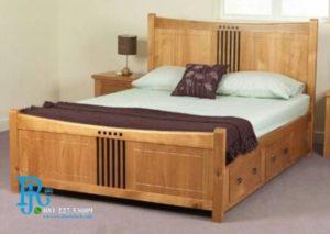 Tempat Tidur Jati Solid Minimalis